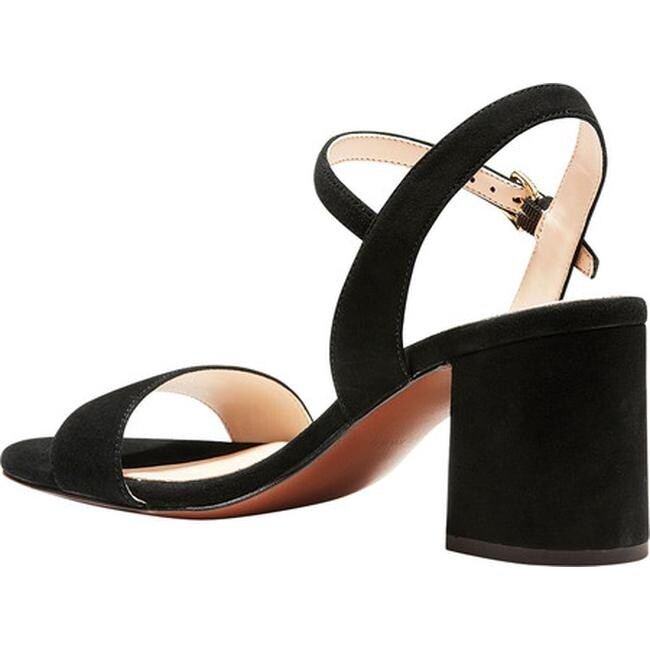 de628d7a86b Shop Cole Haan Women s Josie Block Heel Sandal Black Suede - Free Shipping  Today - Overstock - 27585335