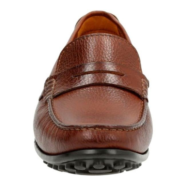 b8fdd7c80df Shop Clarks Men s Hamilton Way Penny Loafer Cognac - Free Shipping Today -  Overstock - 14459183