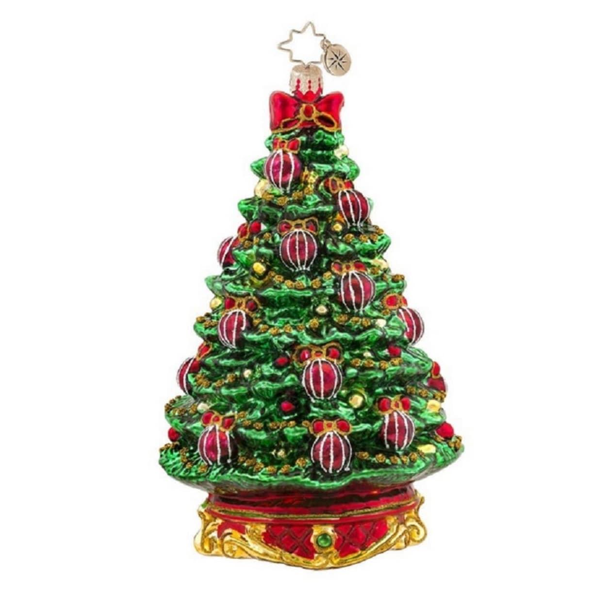 Shop Christopher Radko Glass Noble Fir Christmas Tree Ornament ...