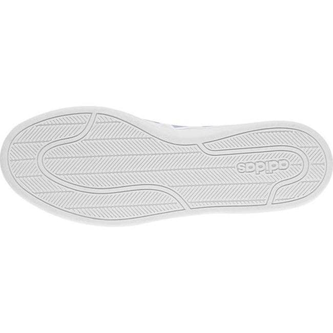 new concept ef5a4 2b9bc Shop adidas Womens NEO Cloudfoam Advantage Stripe Court Shoe FTWR  WhiteFTWR WhiteAero Blue - Free Shipping Today - Overstock - 20722377
