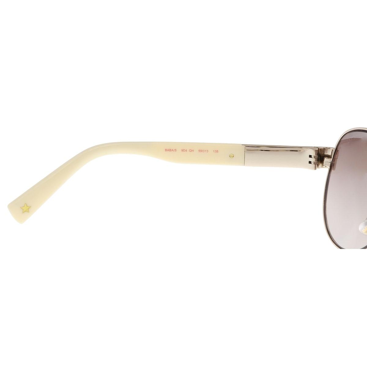 d7de87a28cb96 Shop Jimmy Choo BABA S 09D4 Light Gold Aviator Sunglasses - 59-13-135 -  Free Shipping Today - Overstock - 21158647