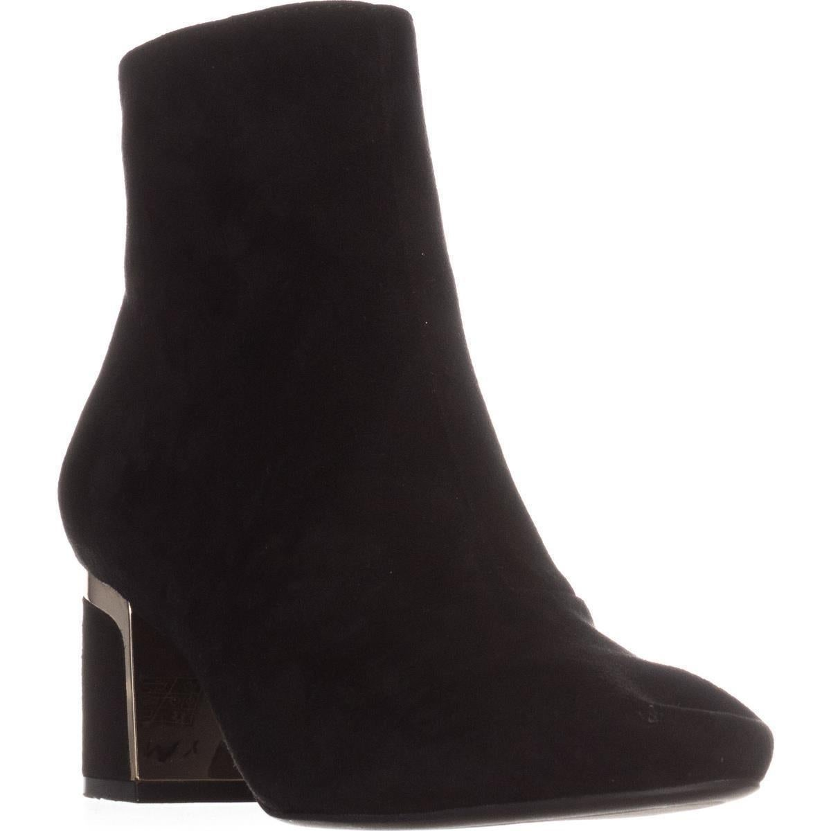 2ceacda4a Shop DKNY Corrie Ankle Boots, Black Suede - On Sale - Free Shipping ...