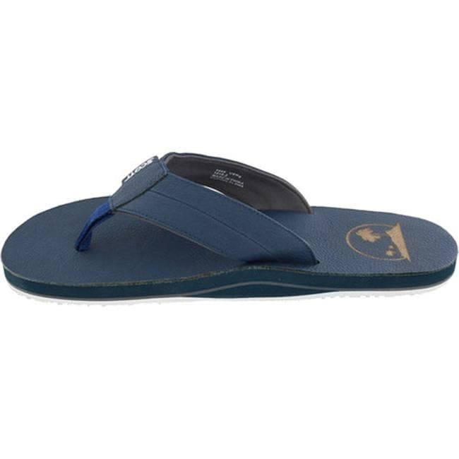8590e0e6092f6a Shop Scott Hawaii Men s Holo Flip Flop Navy Leather - Free Shipping On  Orders Over  45 - Overstock.com - 15026009