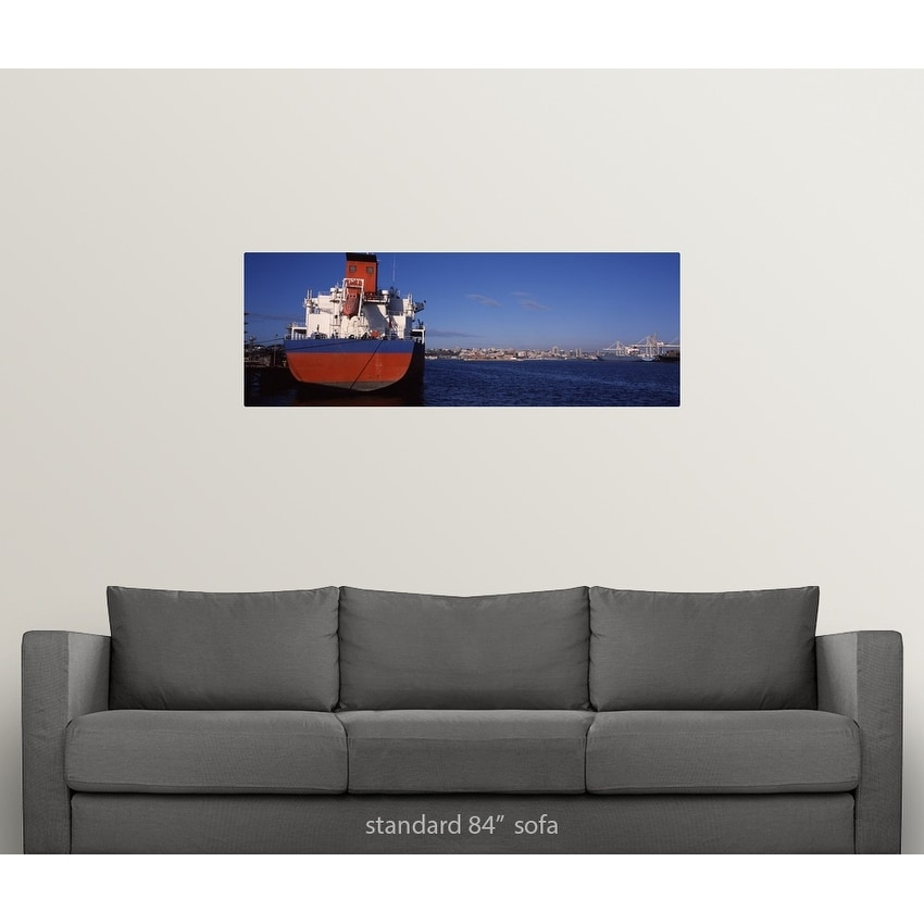 Poster Print entitled Container ship moored at a harbor, Port Elizabeth,  Eastern Cape Province, Republic of South - Multi-color