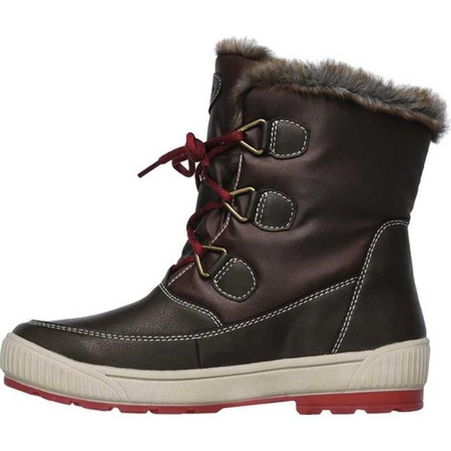 8b99279e5a0 Skechers Women's Woodland Mid Calf Cold Weather Boot Chocolate