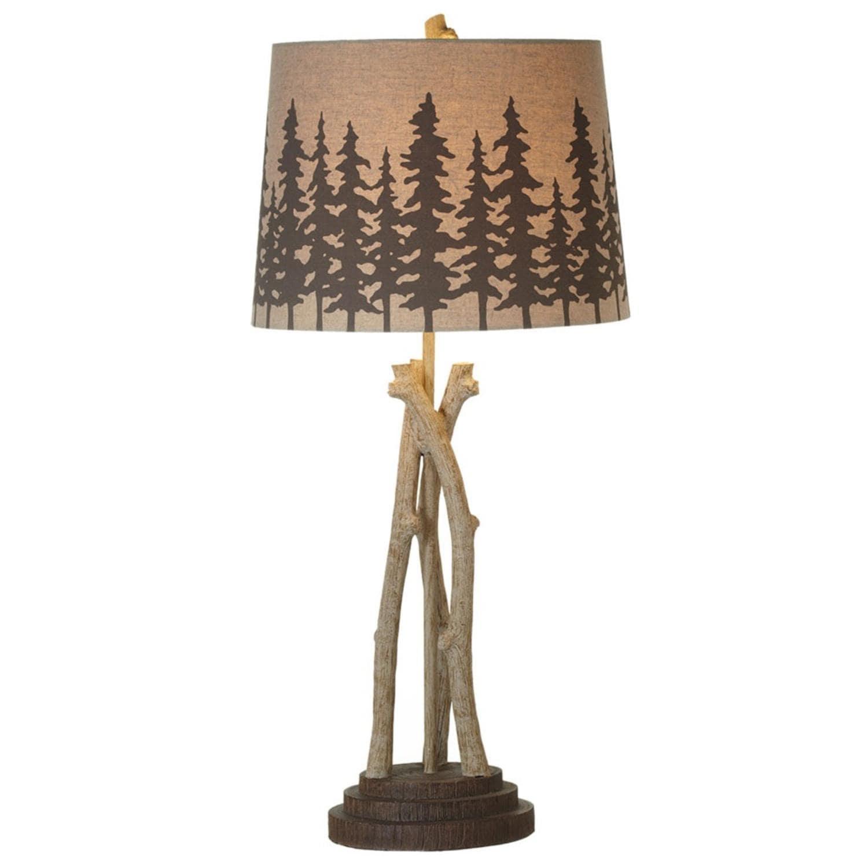 Shop 32 Rich Dark Brown Tree Branch Table Lamp 150 Watts Maximum