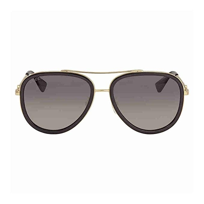 cc7bf4493e9 Shop Gucci Gg 0062S 011 Black Gold Metal Aviator Sunglasses Grey Gradient  Polarized Lens - gold-gold-grey - One size - Free Shipping Today -  Overstock - ...