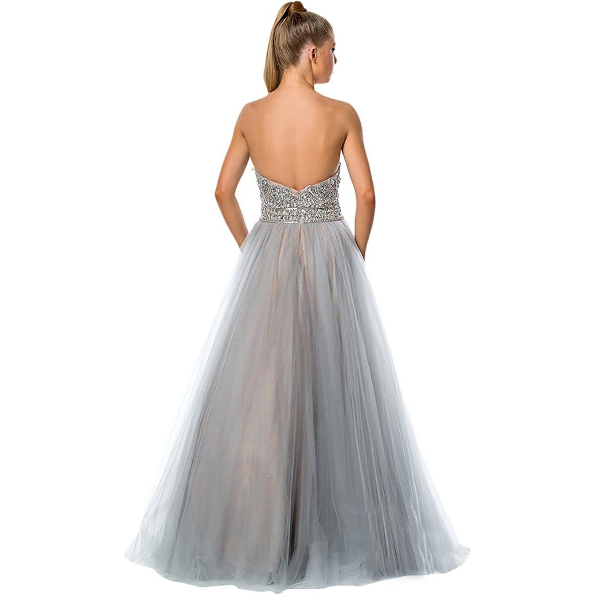 669c0be6432 Shop Terani Couture Illusion Strapless Formal Dress - Free Shipping Today -  Overstock - 20697011