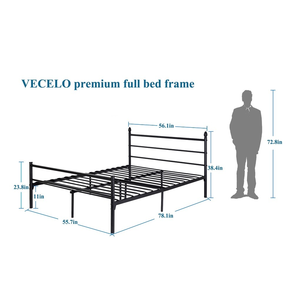 Shop VECELO Full//Queen/Twin size Platform Bed Frame,Box Spring ...