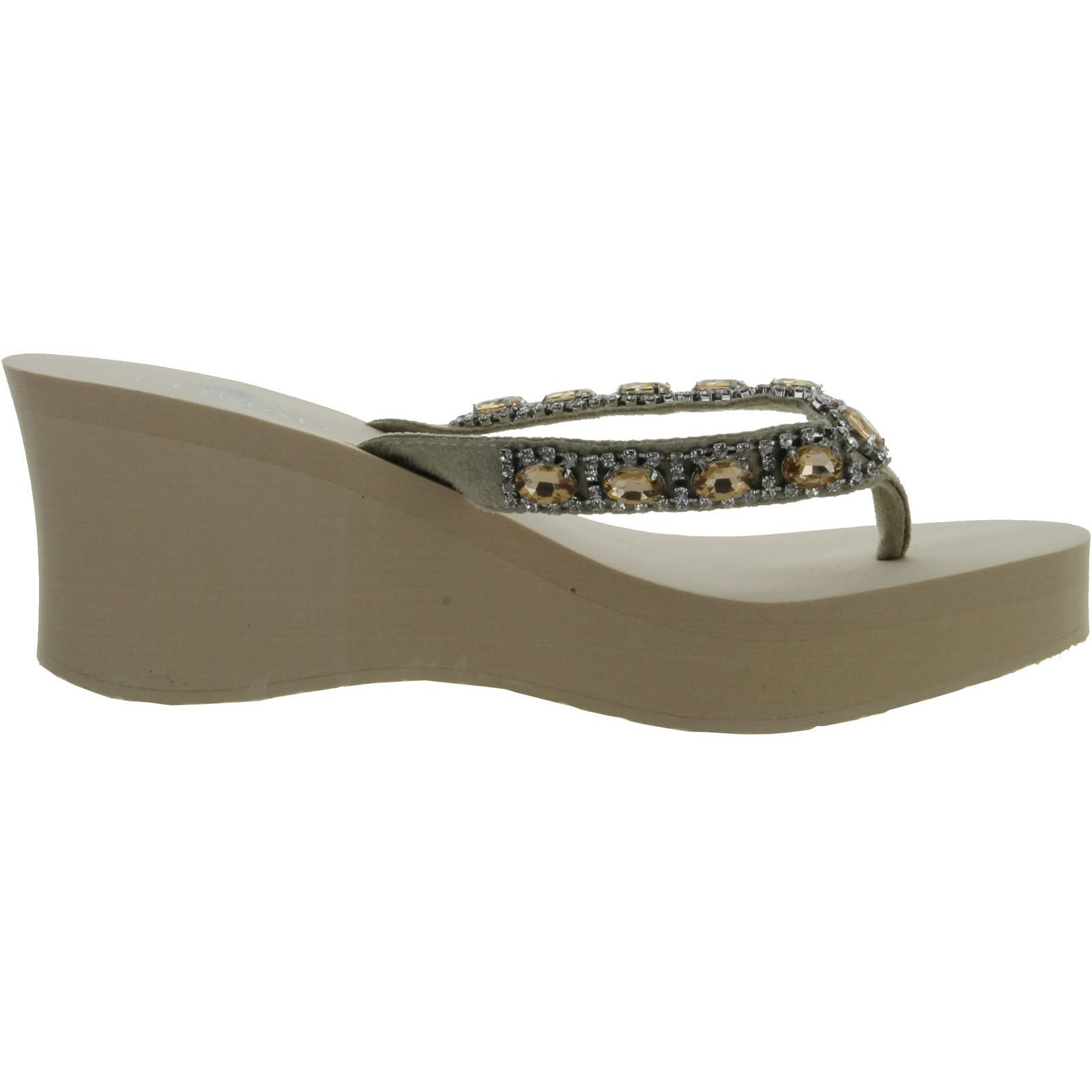 136275932631 Shop Nomad Women s Gem Wedge Sandal - Beige - 10 b(m) us - Free Shipping On  Orders Over  45 - Overstock - 14312229