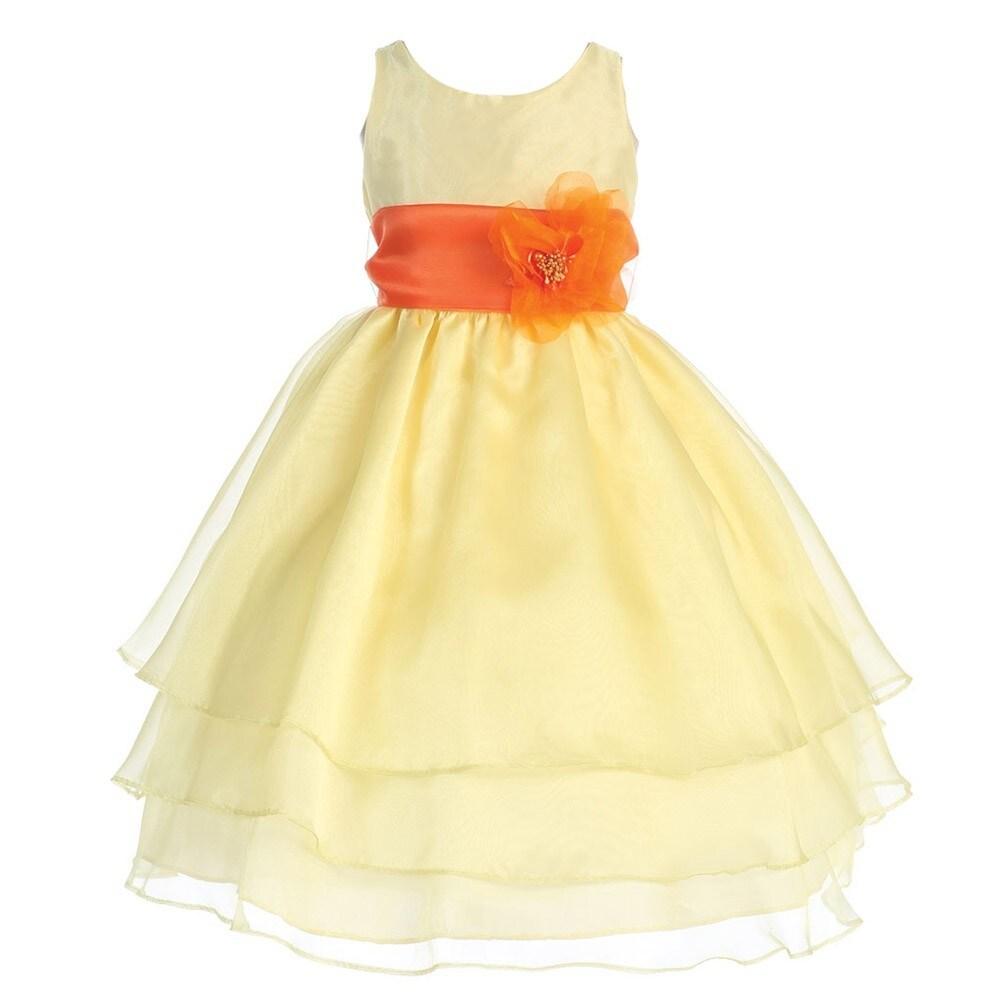 b10664efea Ivory And Orange Flower Girl Dresses - Gomes Weine AG