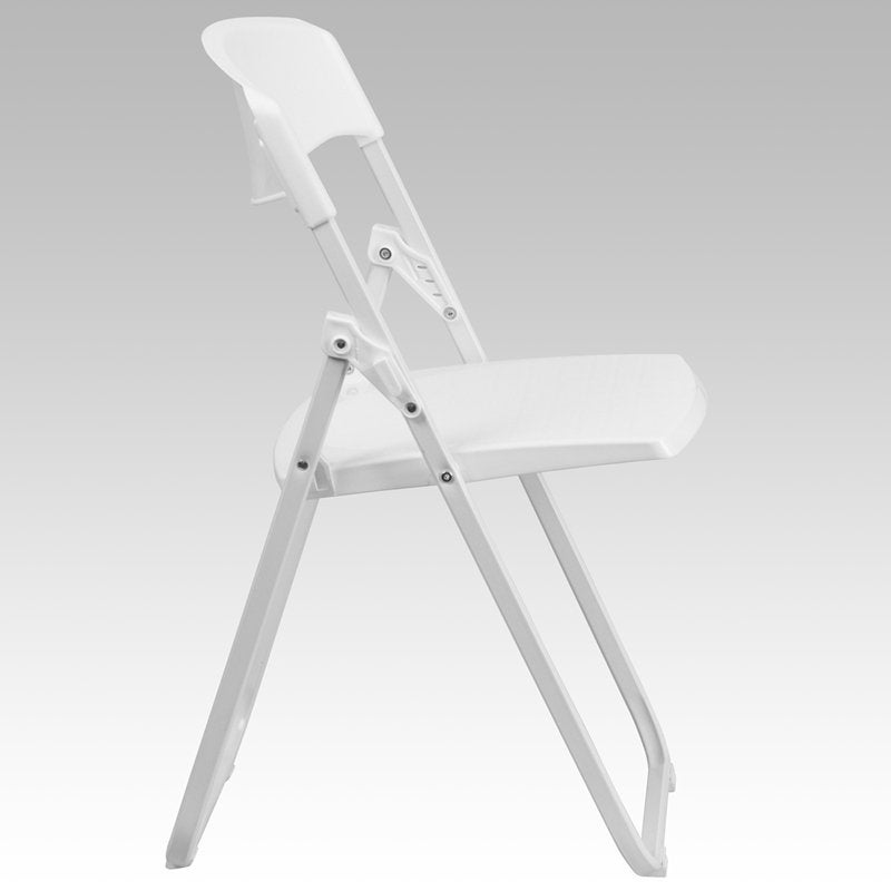 Rivera Heavy Duty Plastic Folding Chair, White, Contoured Back   Free  Shipping Today   Overstock.com   26305512