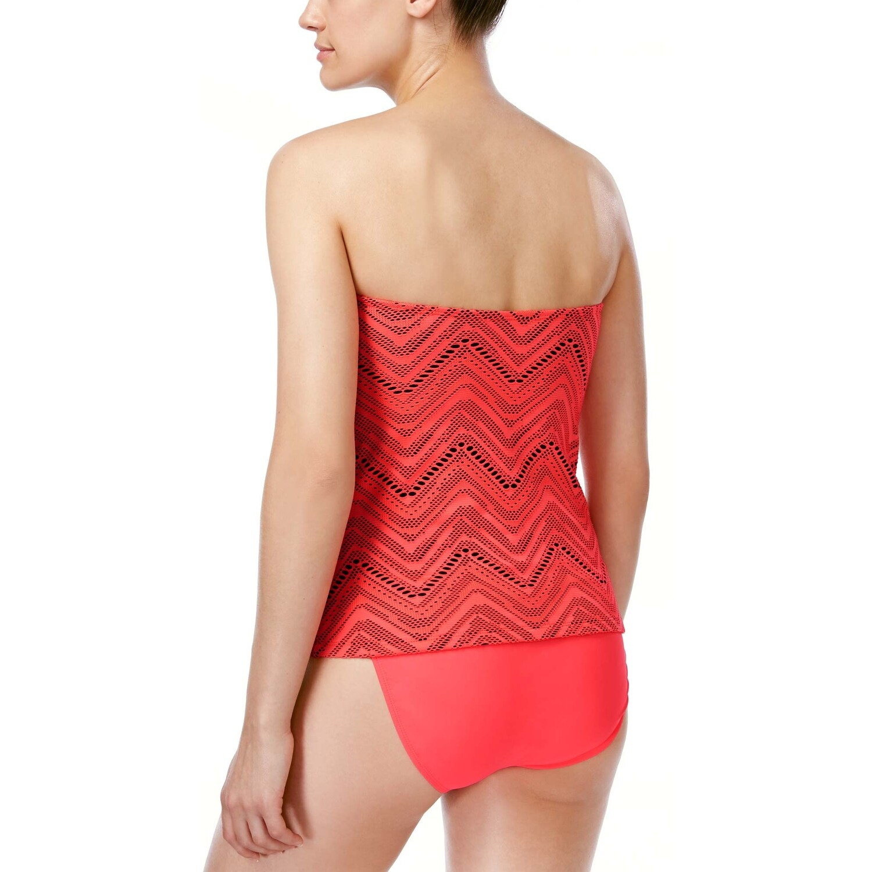 1f04813e846df Shop Island Escape Womens Calypso Crochet Twist Tankini Top 10 Coral  Swimsuit - Free Shipping On Orders Over $45 - Overstock - 22316133