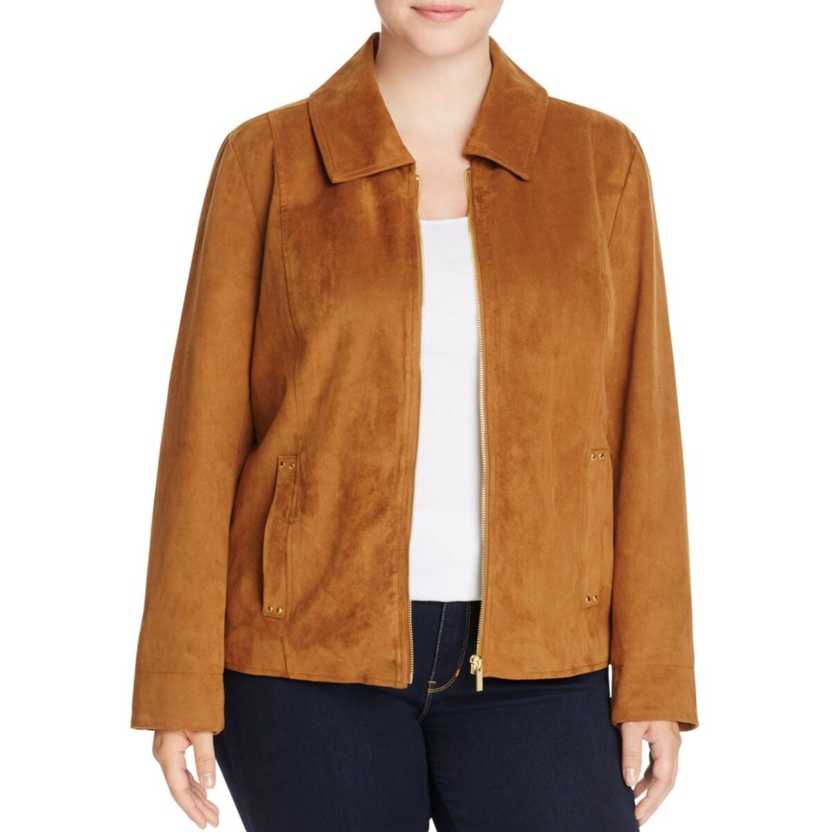 d496375eb35 Shop Bagatelle Womens Plus Jacket Faux Suede Collared - Free Shipping Today  - Overstock.com - 17306542