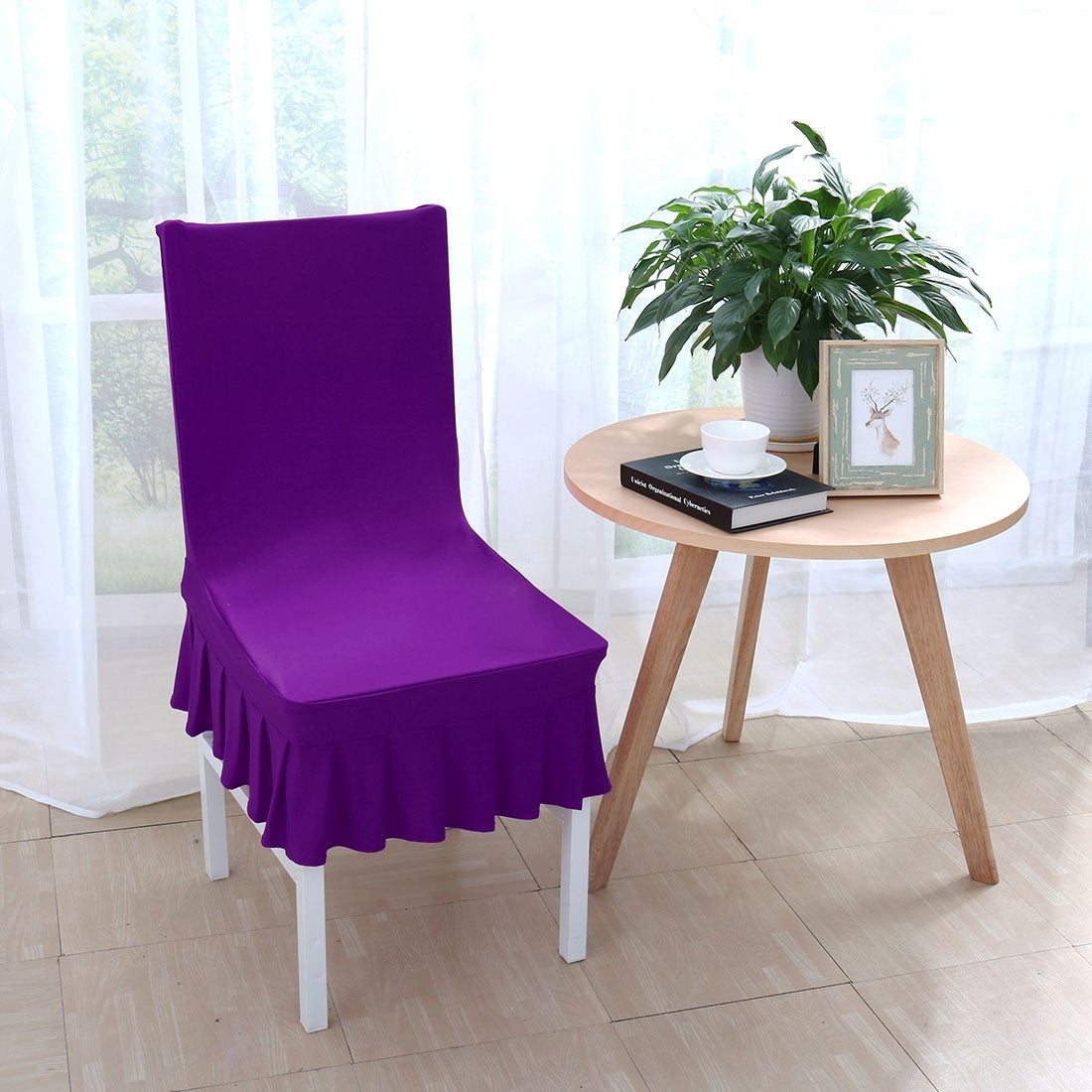 Shop Stretchy Thicken Plush Short Dining Room Chair Covers Seat Protector Slipcover