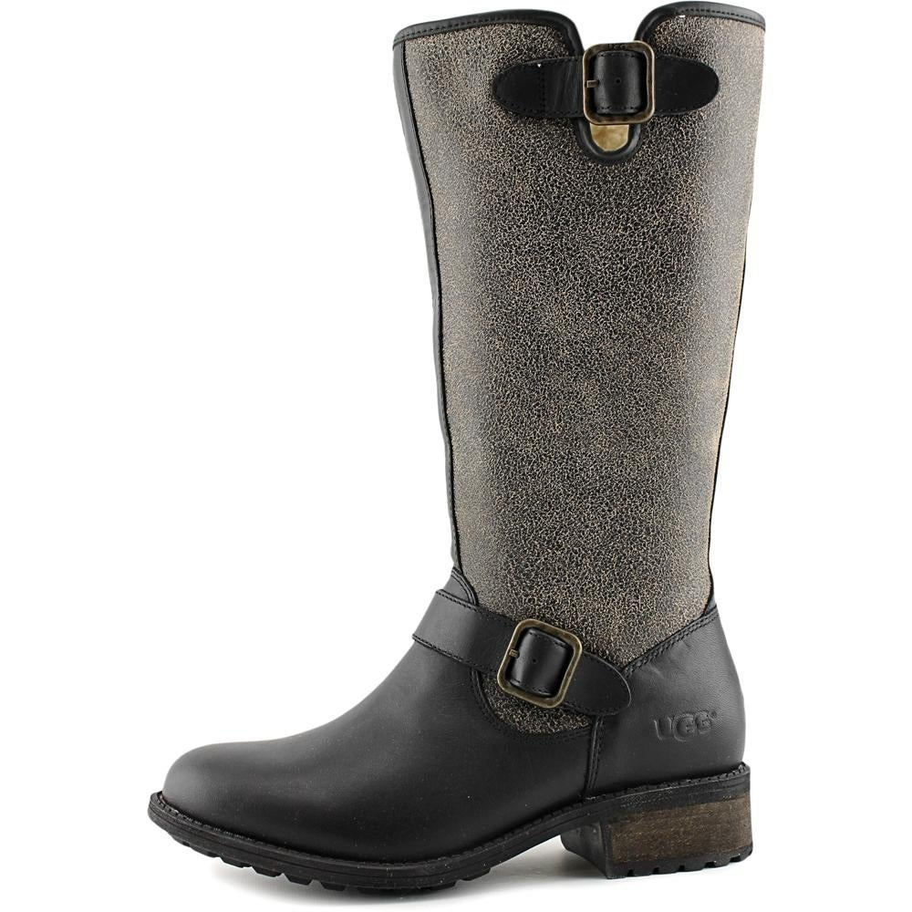 acb2a802438 Ugg Australia Chancery Women Round Toe Leather Winter Boot