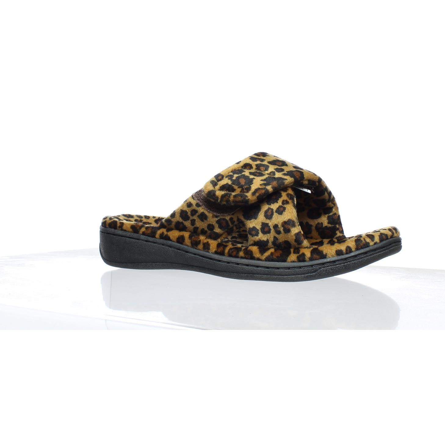 6c39a7566fdc Shop Vionic Womens Indulge Relax Tan Leopard Mule Slippers Size 5 ...
