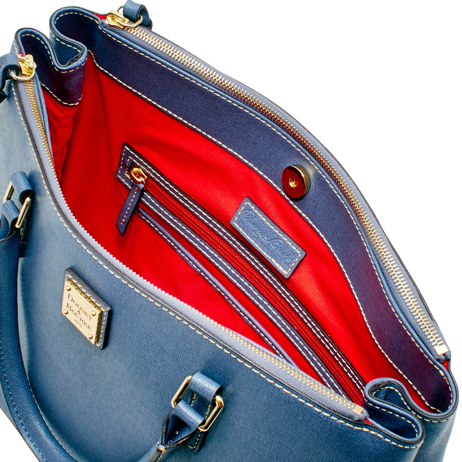 f9d992a4d Shop Dooney   Bourke Saffiano Willa Zip Satchel (Introduced by Dooney    Bourke at  298 in Feb 2018) - Free Shipping Today - Overstock - 20122041