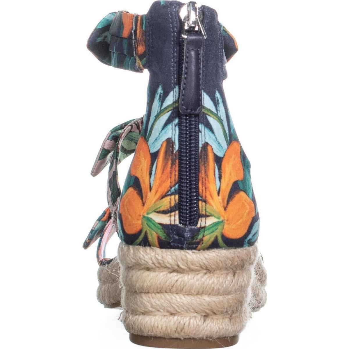 13357ab624 Shop Nine West Allegro Bow Espadrilles Sandals, Navy Multi - On Sale - Free  Shipping Today - Overstock - 22809187