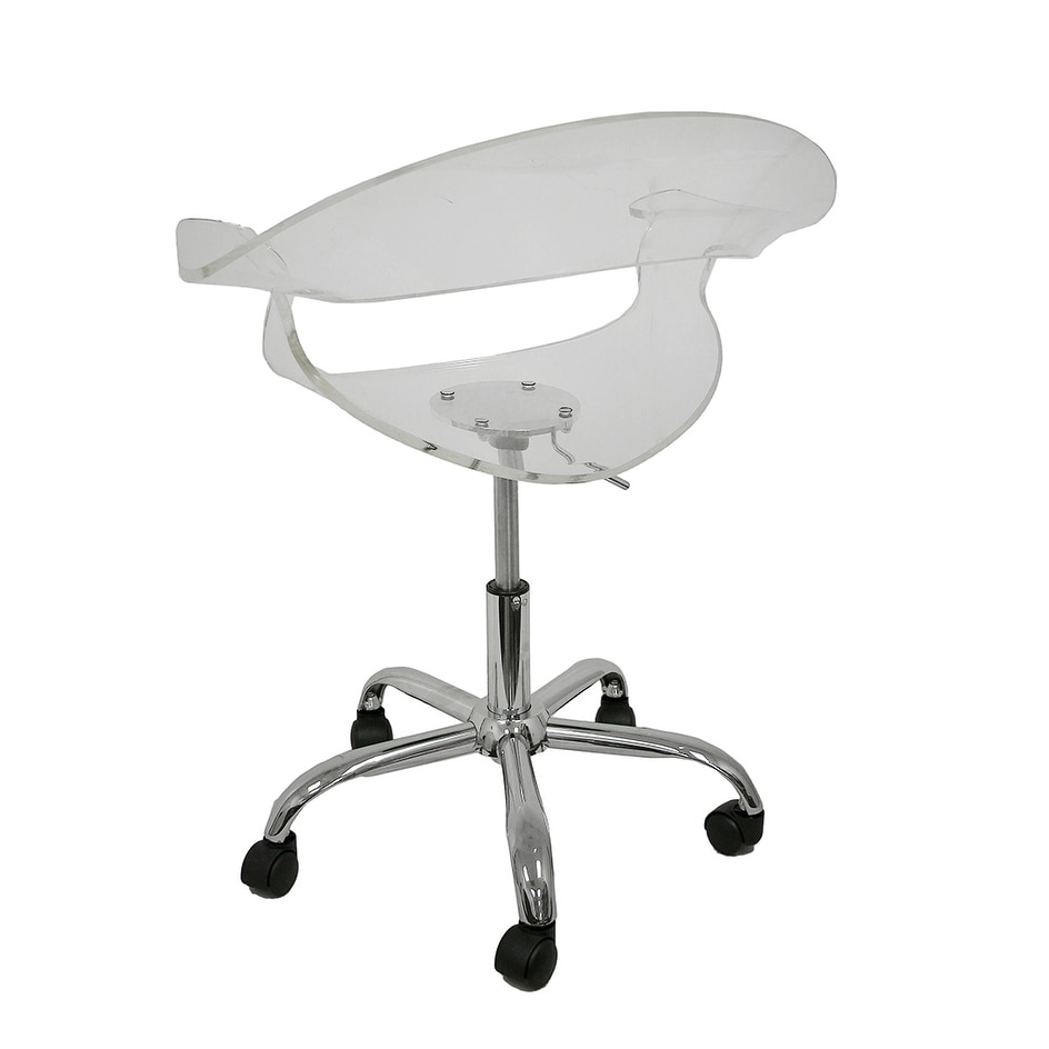 Shop Clear Acrylic Adjustable Height Swivel Chair   Free Shipping Today    Overstock.com   17079143