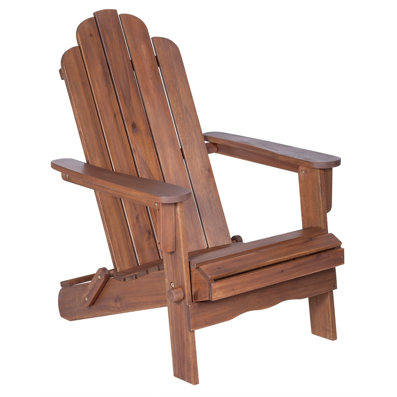 be6201fed741 Shop WE Furniture Solid Acacia Wood Adirondack Chair - Dark Brown - Free  Shipping Today - Overstock.com - 23060510