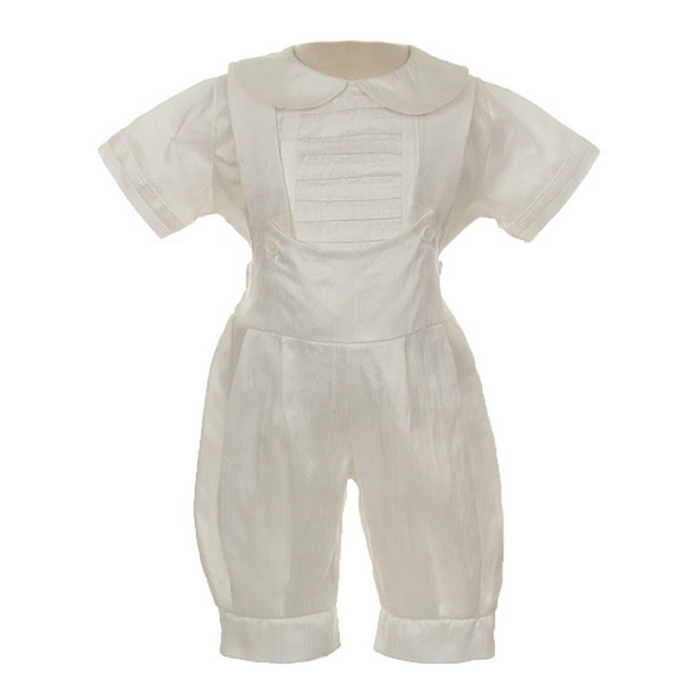 0547b7278 Shop Rain Kids Baby Boys Ivory Silk Stole Hat Baptism Romper ...