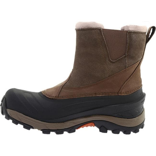5893262510 Shop The North Face Men s Chilkat III Pull-On Snow Boot Mudpack  Brown Bombay Orange - Free Shipping Today - Overstock - 19417553