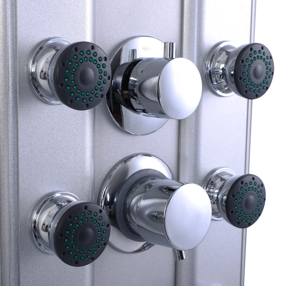 Shop Costway 46\'\' Bathroom Aluminum Shower Panel Thermostatic Tower ...