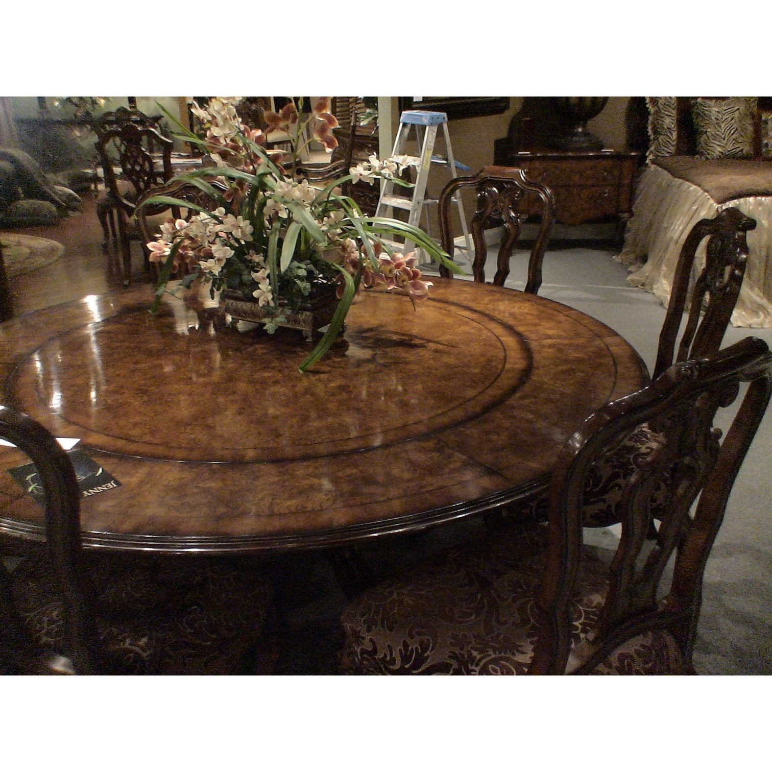 Shop Palladio Extendable 5680 Round Dining Table Burgundy Free