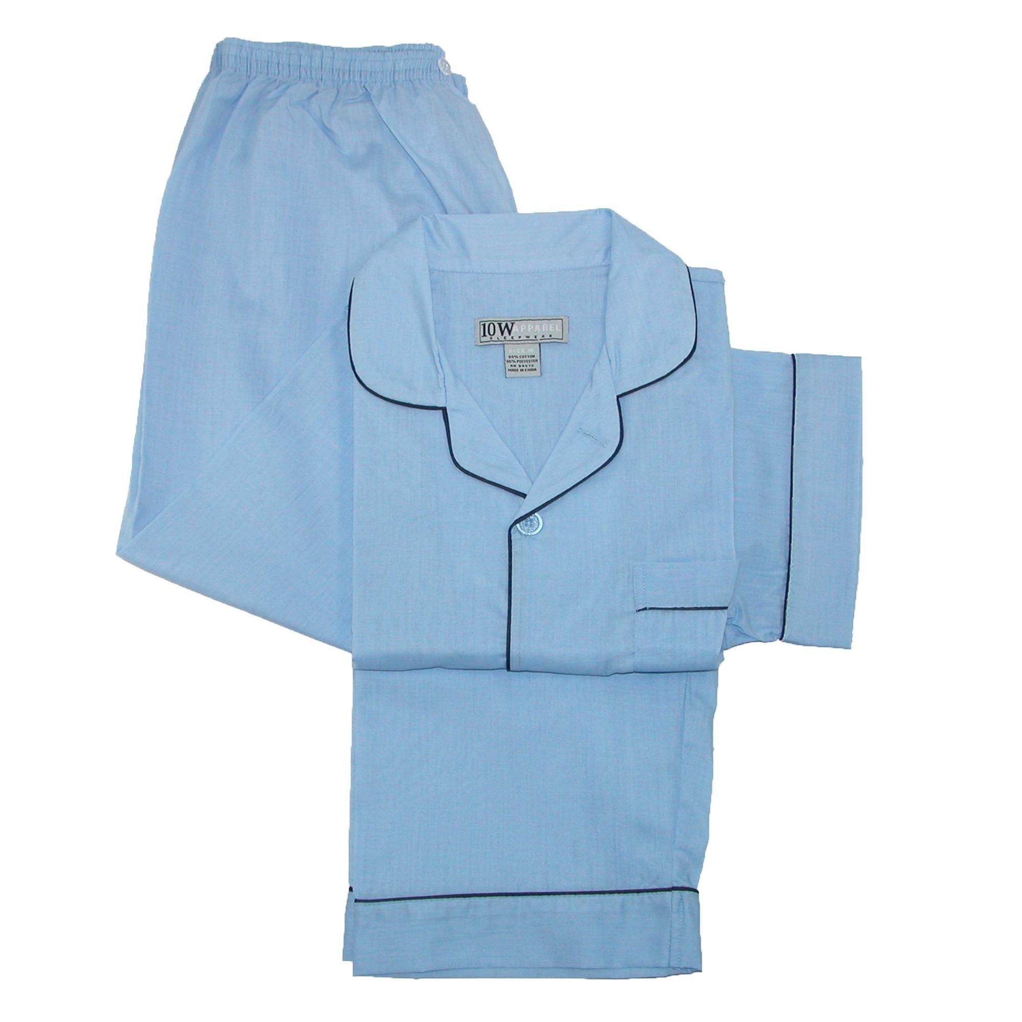 e64c6e247 Shop Ten West Apparel Men s Short Sleeve Long Leg Solid Pajama Set ...