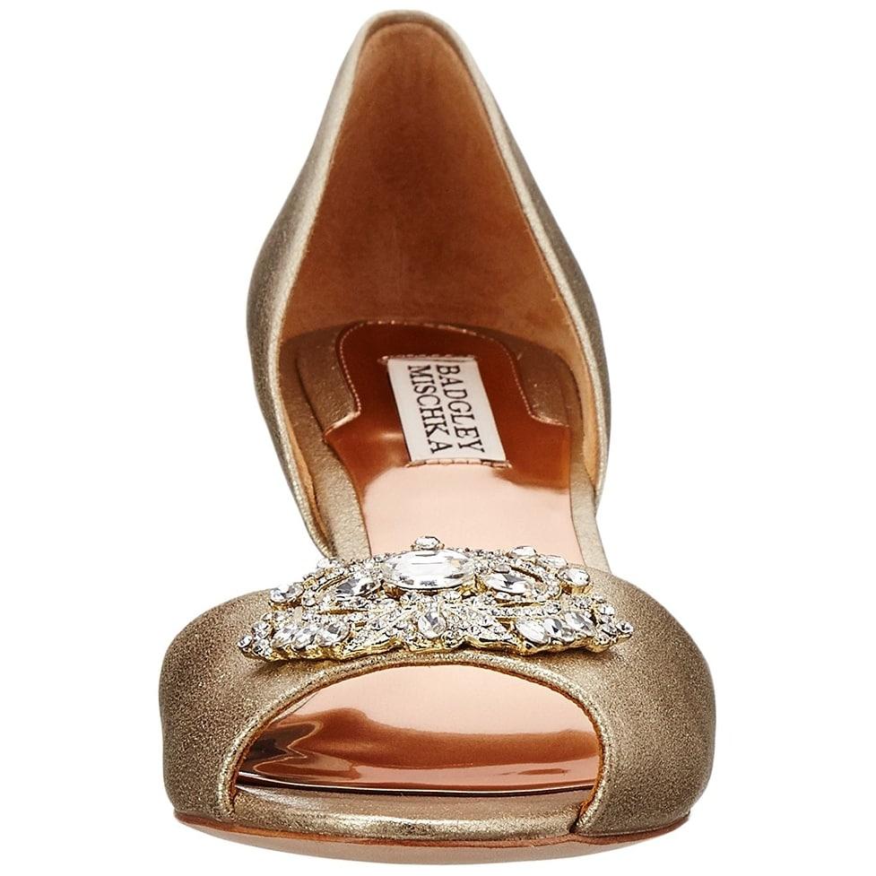 8aa5da8ad140 Shop BADGLEY MISCHKA Womens petrina ll Fabric Peep Toe D-orsay Pumps - Free  Shipping Today - Overstock - 17036656