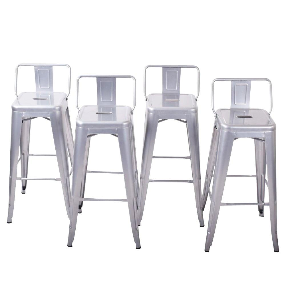 Shop Belleze 24 Inch Low Back Indoor Outdoor Chair Counter Height