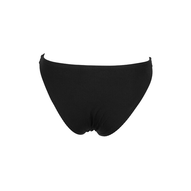 b313aa025d282 Shop California Waves Juniors Black Ribbed Bikini Bottom L - Free Shipping  On Orders Over $45 - Overstock - 26519776