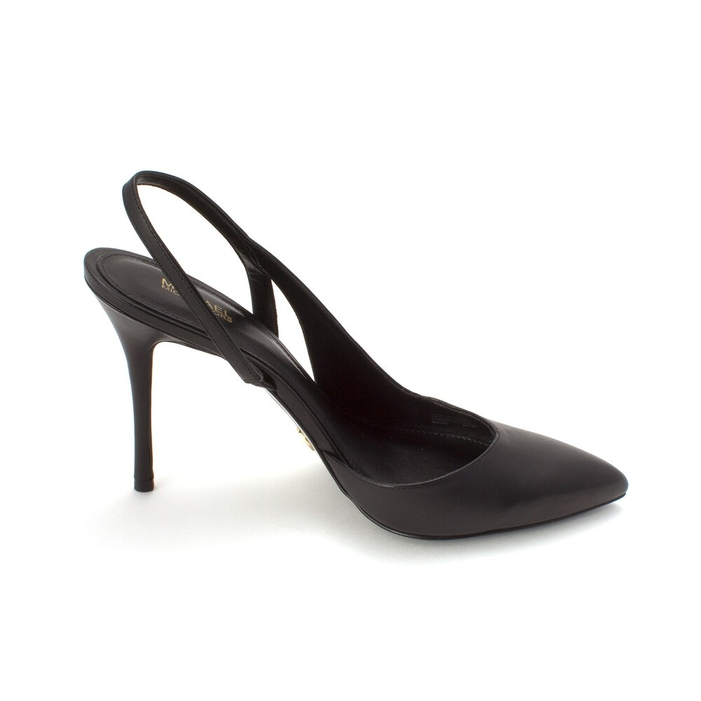efef04b3aa4d Shop Michael Kors Womens Eliza Leather Pointed Toe SlingBack D-orsay Pumps  - Free Shipping Today - Overstock - 27549766