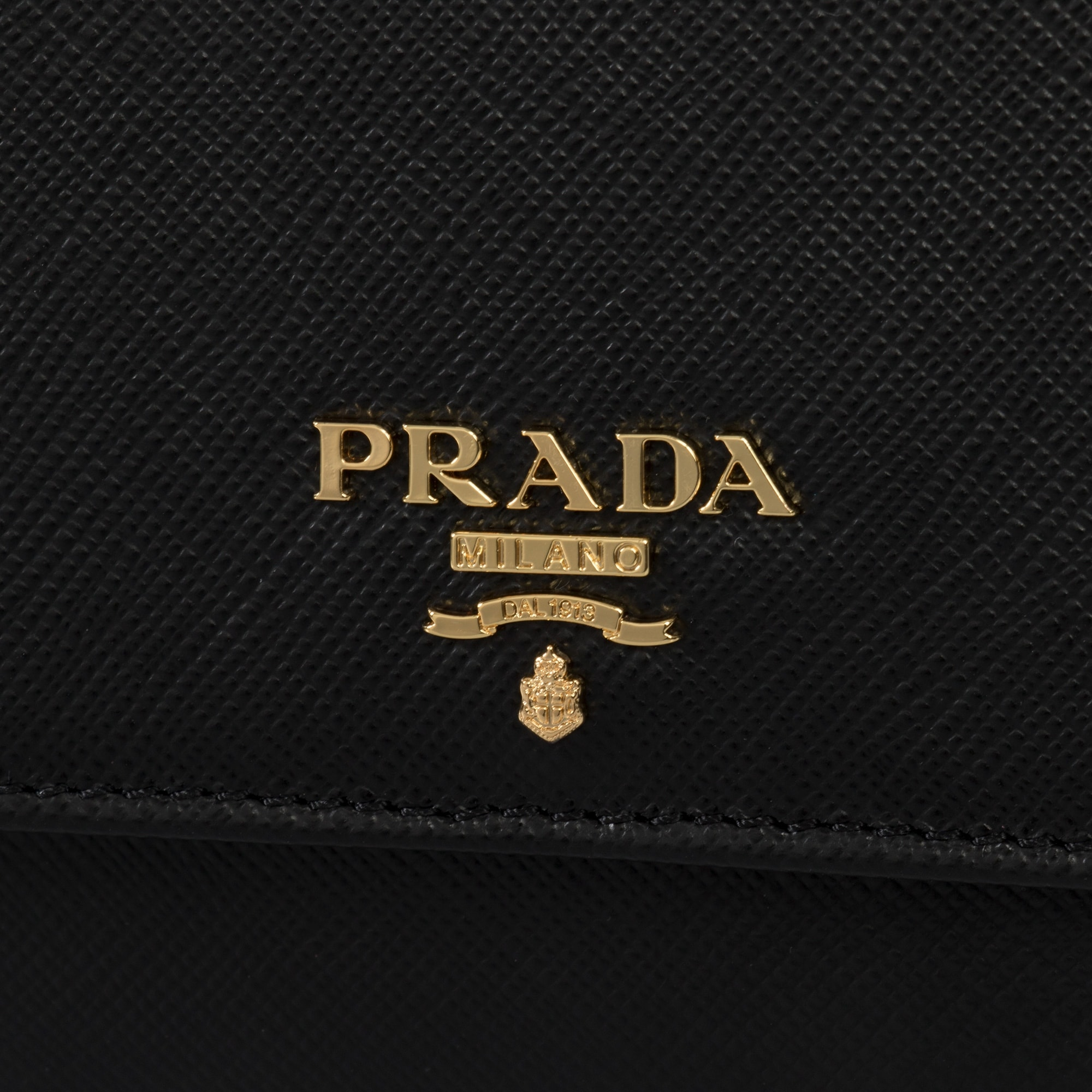 64120d32f1fd Shop Prada Black Saffiano Leather Flap Wallet 1MH523 QWA F0002 - Free  Shipping Today - Overstock - 23080327