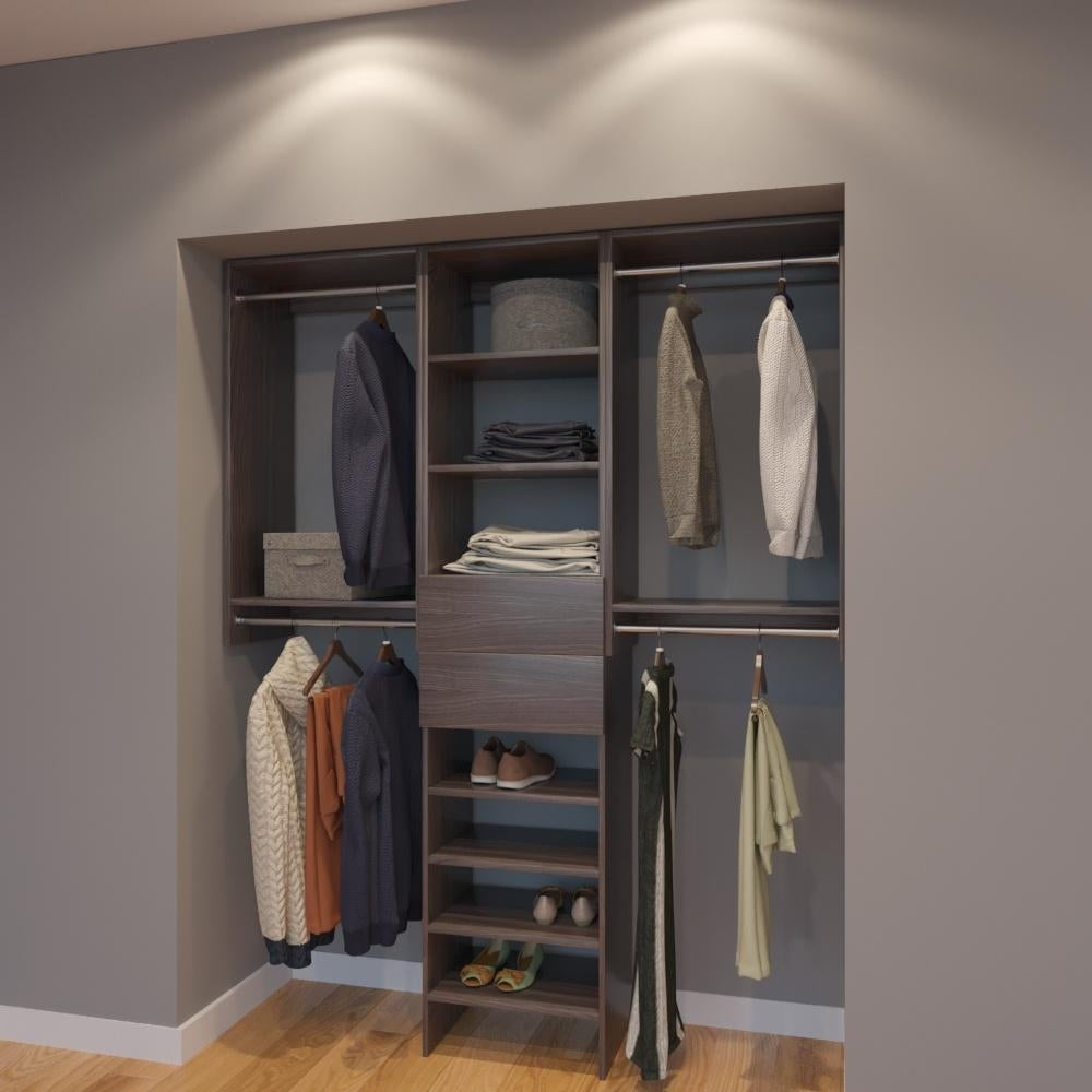 Modular Closets 5 Ft Closet Organizer System 66 Inch Style A On Free Shipping Today 21706515
