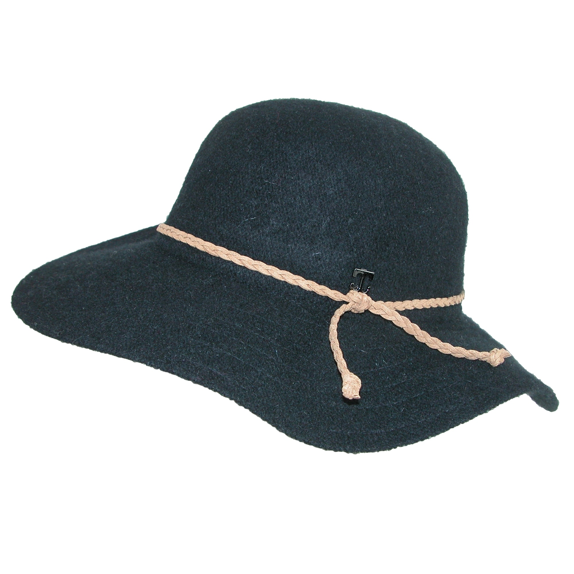 713bd5891c9 Shop Callanan Women s Floppy Hat with Braided Faux Leather Hatband - Ships  To Canada - Overstock.ca - 17762440
