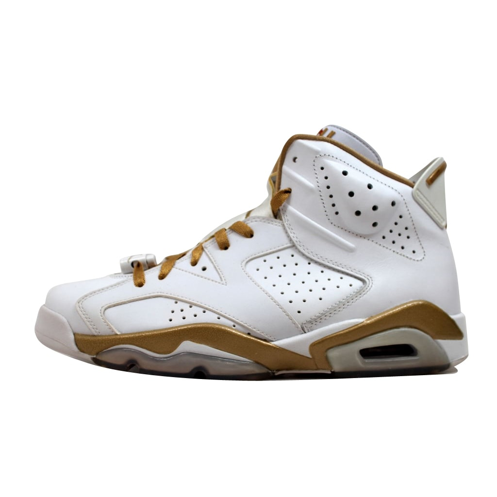 newest 6c528 40a25 Shop Nike Men s Air Jordan VI 6 Retro White Metallic Gold GMP Golden  Moments Pack 384664-135 - Free Shipping Today - Overstock - 20131724