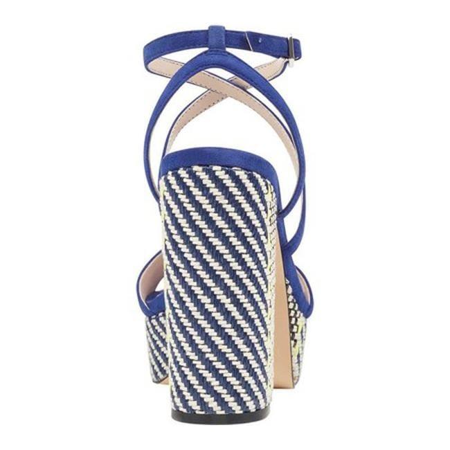 16772e7aff84 Shop Nine West Women s Markando Block Heel Platform Sandal Dark Blue Suede  - On Sale - Free Shipping Today - Overstock - 21727668