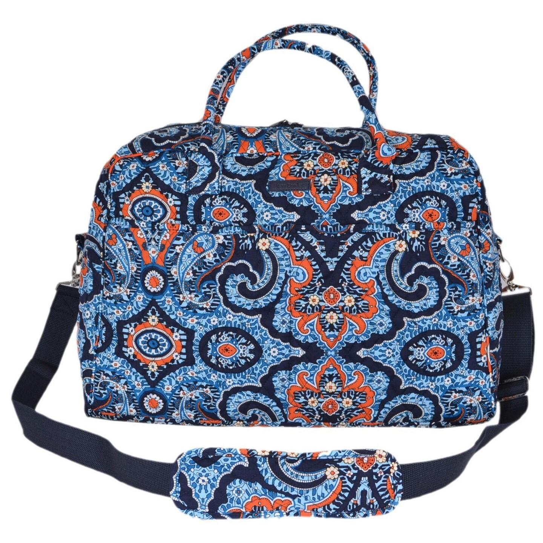 Vera Bradley MARRAKESH Floral Paisley Cotton Weekender Duffle Travel Bag 48a068a864241