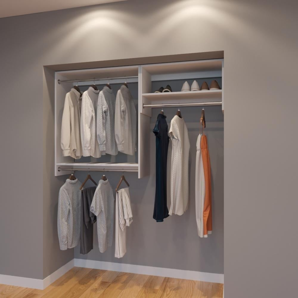 Modular Closets 5 Ft Closet Organizer System 66 Inch Style D