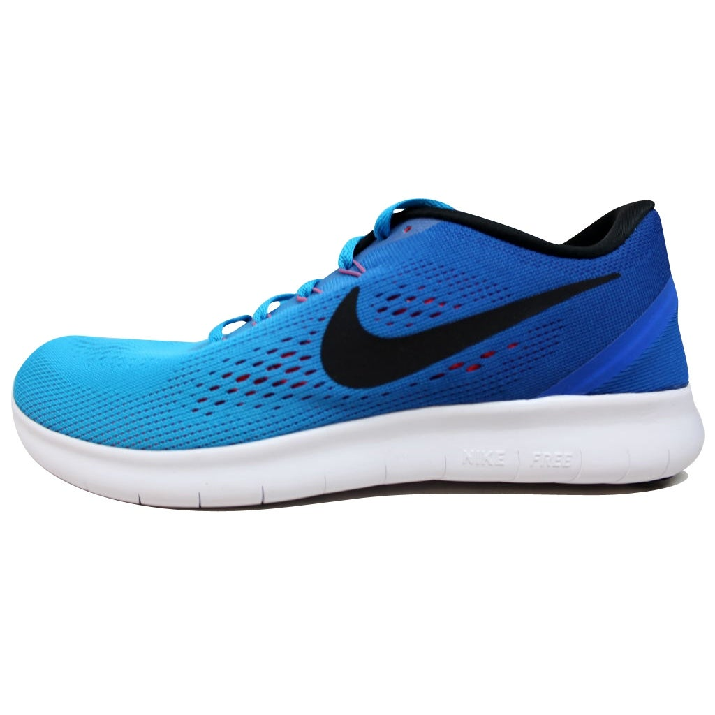 online store 71c05 bae2b Nike Free RN Blue Glow Black-Racer Blue-Bright Crimson 831508-404 Men s