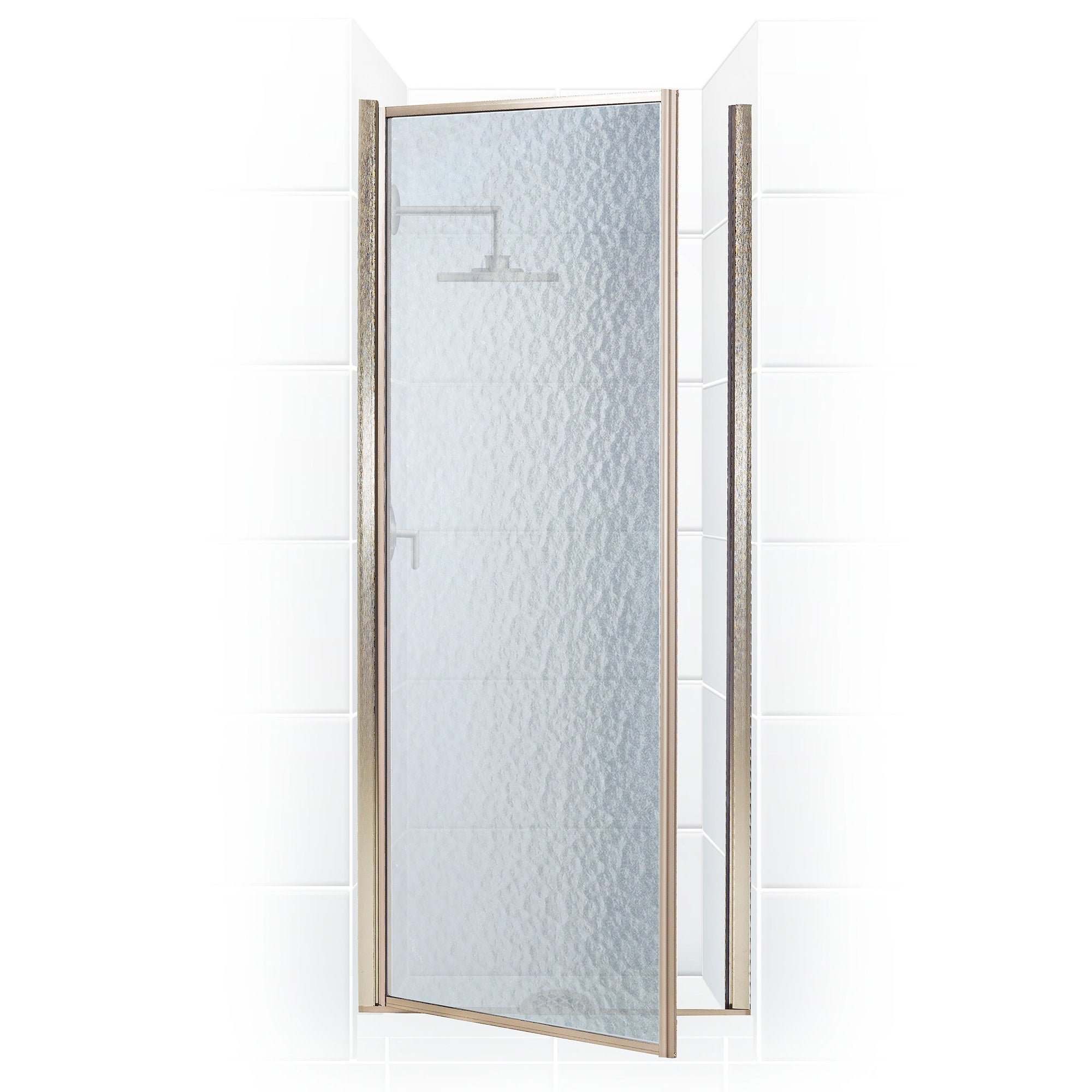 Shower Doors.Coastal Shower Doors L22 69 A Legend Series 22 X 68 Framed Hinge Shower Door With Obscure Glass