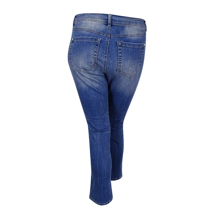 c4eaa9b2ae8e Shop INC International Concepts Women s Plus Size Tummy-Control Straight  Leg Jeans - On Sale - Free Shipping On Orders Over  45 - Overstock -  17019306