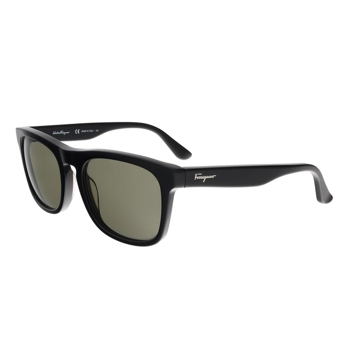 8c1b4fb30bf Salvatore Ferragamo SF776 S 001 Black Rectangle Feline Sunglasses