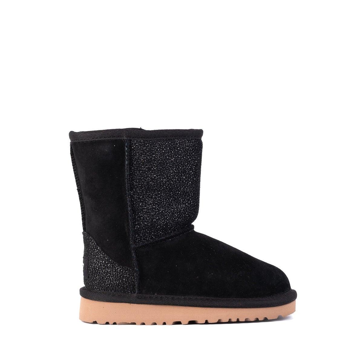 5f0701ad01d UGG Toddler Girls Classic Short Serein Black Glitter Boots Size US9~RTL$100