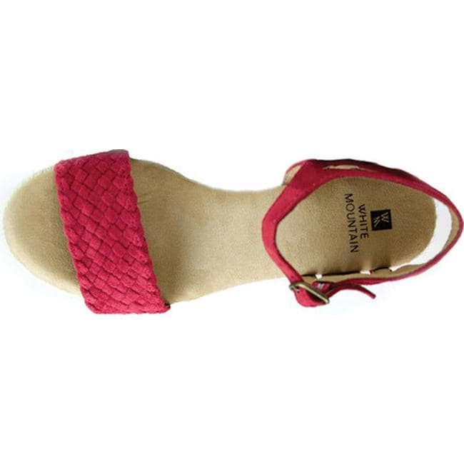 f36ab3cfa96 White Mountain Women's Crable Espadrille Wedge Sandal Red Synthetic