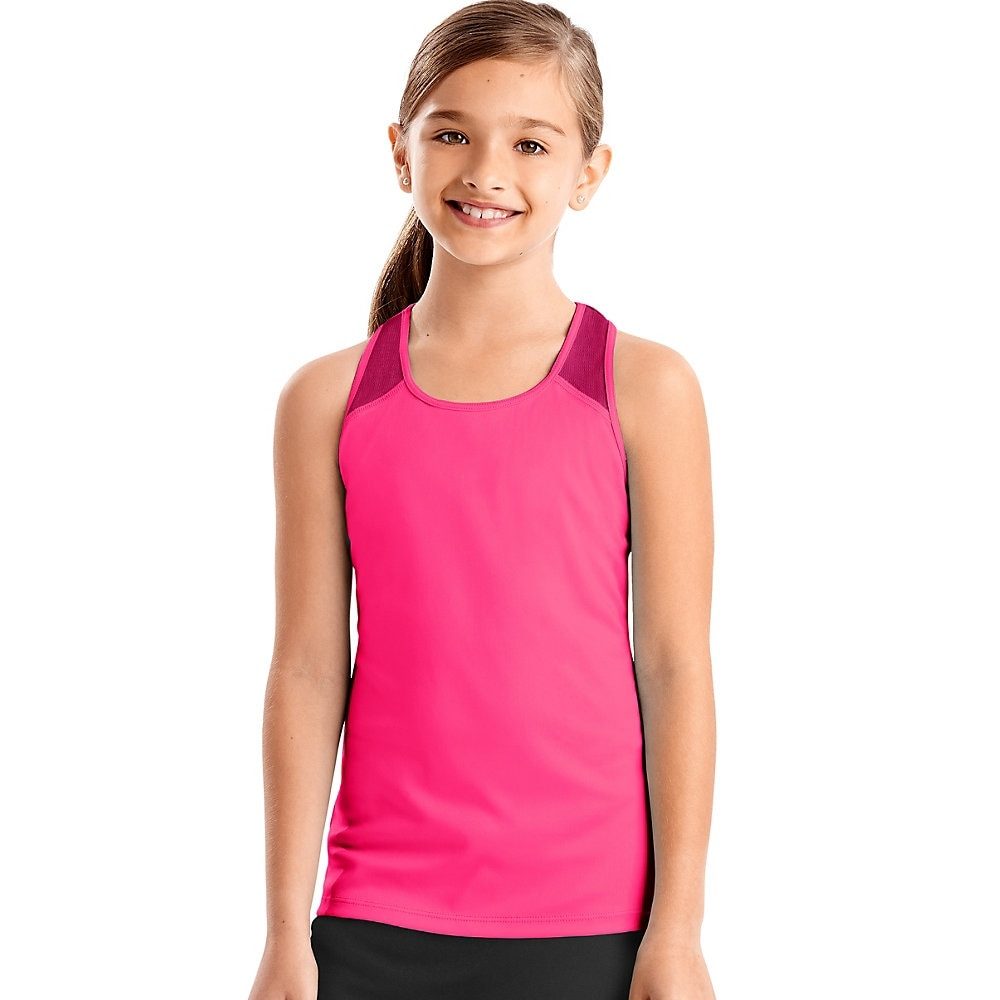 39dec0606d88f Shop Hanes Sport™ Girls' Performance Tank - Color - Pink Extreme - Size - L  - Free Shipping On Orders Over $45 - Overstock - 26113216