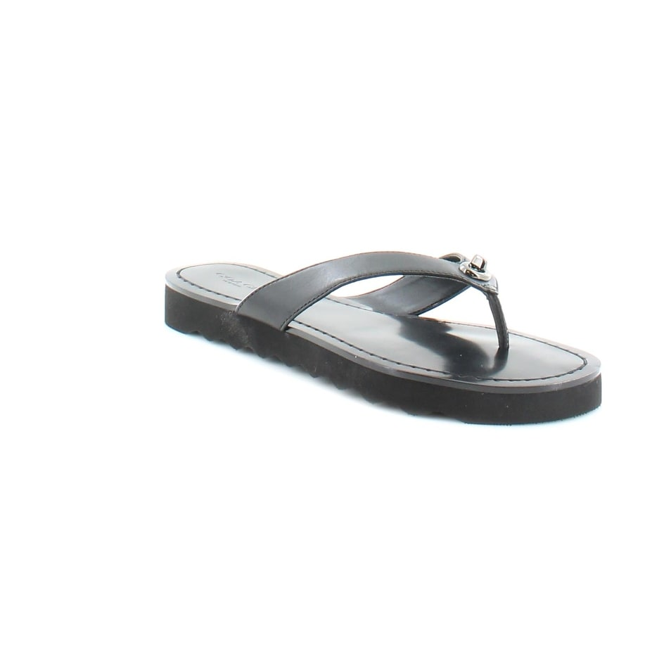 3e12fef41718 Shop Coach Shelly Women s Sandals Black - 7 - Free Shipping Today ...