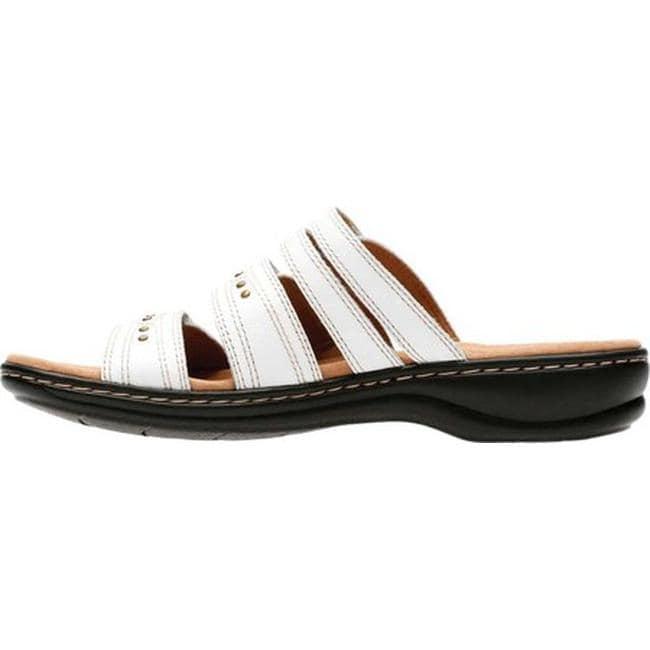 84160920cd0 Shop Clarks Women s Leisa Lakia Slide Sandal White Full Grain Leather -  Free Shipping On Orders Over  45 - Overstock - 20592435